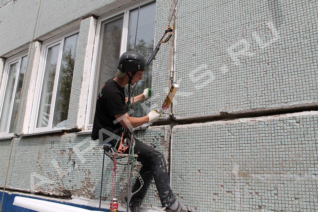 Заделка швов в панельных домах снаружи своими руками
